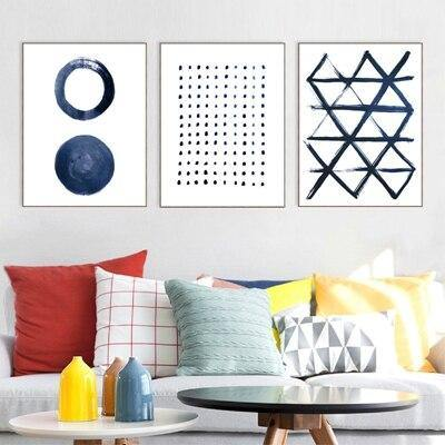 Minimalist Blue Abstract Paintings from Gallery Wallrus | Eclectic Wall Art & Decor with Worldwide Shipping