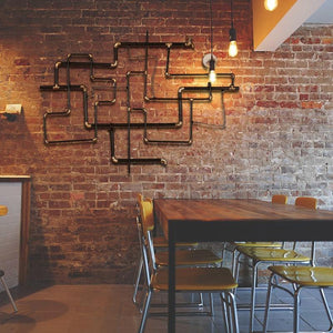 Large Industrial Pipe Wall Decoration from Gallery Wallrus | Eclectic Wall Art & Decor with Worldwide Shipping