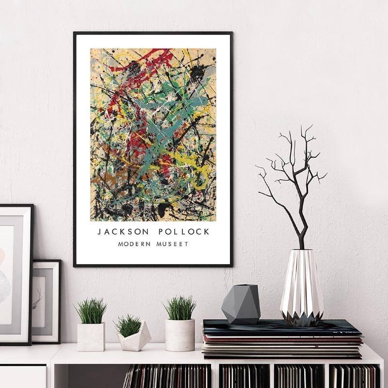 Jackson Pollock Abstract Paintings from Gallery Wallrus | Eclectic Wall Art & Decor with Worldwide Shipping