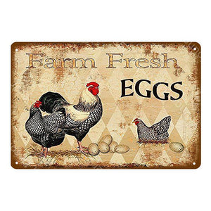 Vintage Chicken Wall Signs Mix & Match from Gallery Wallrus | Eclectic Wall Art & Decor with Worldwide Shipping