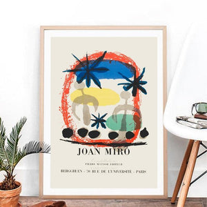 Joan Miro Exhibition Vintage Summer Abstract Art Painting from Gallery Wallrus | Eclectic Wall Art & Decor with Worldwide Shipping