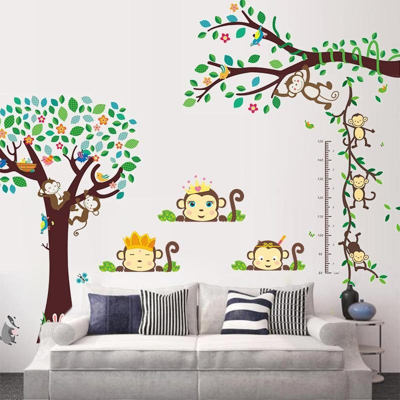 King And Queen Monkeys Forest Tree Wall Stickers from Gallery Wallrus | Eclectic Wall Art & Decor with Worldwide Shipping