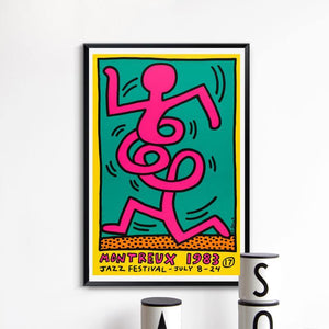 Montreux Jazz Festival 1983 Harinying Art Poster Print from Gallery Wallrus | Eclectic Wall Art & Decor with Worldwide Shipping