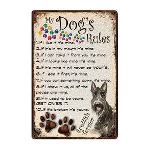 Dog Metal Wall Art Signs (Various Styles) from Gallery Wallrus | Eclectic Wall Art & Decor with Worldwide Shipping