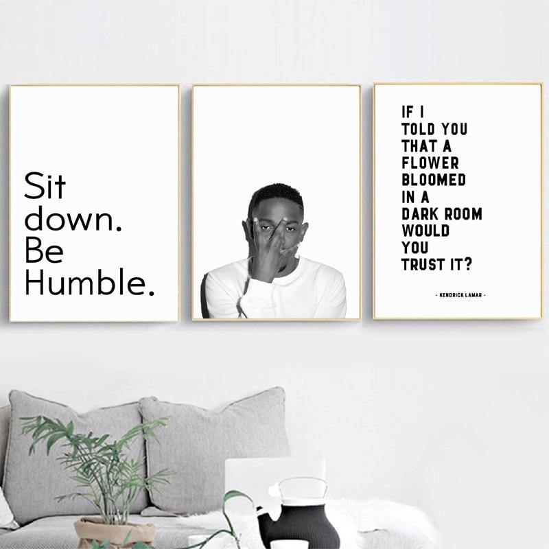 Kendrick Lamar Quotations Gallery Wall Art Set from Gallery Wallrus | Eclectic Wall Art & Decor with Worldwide Shipping