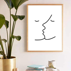 Picasso Love Line Drawing Art Print from Gallery Wallrus | Eclectic Wall Art & Decor with Worldwide Shipping