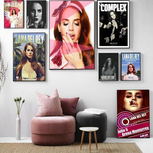 Music Artist Lana Del Rey Wall Gallery Art Pictures from Gallery Wallrus | Eclectic Wall Art & Decor with Worldwide Shipping