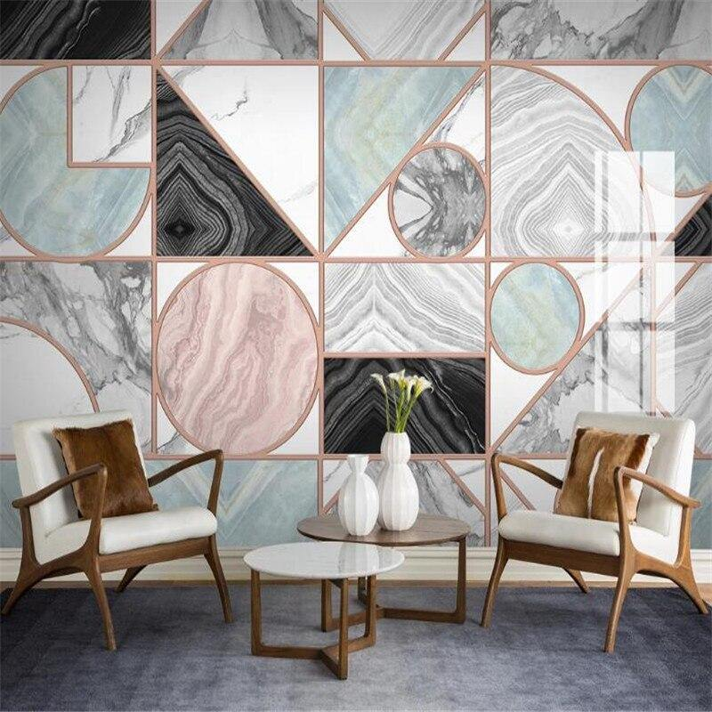 Geometric Marble Art Deco Wall Tile Mural from Gallery Wallrus | Eclectic Wall Art & Decor with Worldwide Shipping