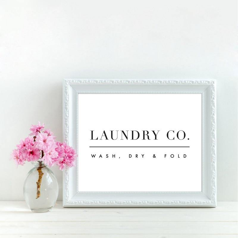 Vintage Laundry Room Typography Art Picture from Gallery Wallrus | Eclectic Wall Art & Decor with Worldwide Shipping