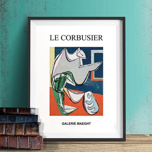 Abstract Le Corbusier Duo Artworks from Gallery Wallrus | Eclectic Wall Art & Decor with Worldwide Shipping