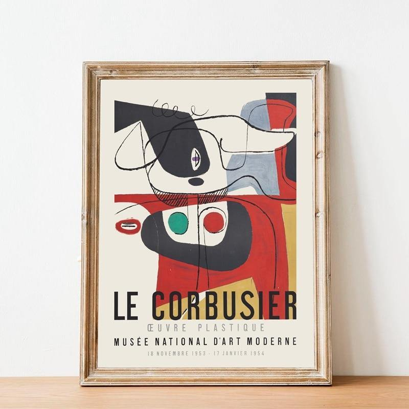 1954 French Art Museum Le Corbusier Exhibition Art Print from Gallery Wallrus | Eclectic Wall Art & Decor with Worldwide Shipping