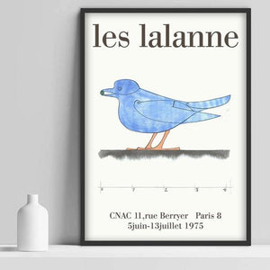 Les Lalanne Blue Bird Artwork from Gallery Wallrus | Eclectic Wall Art & Decor with Worldwide Shipping