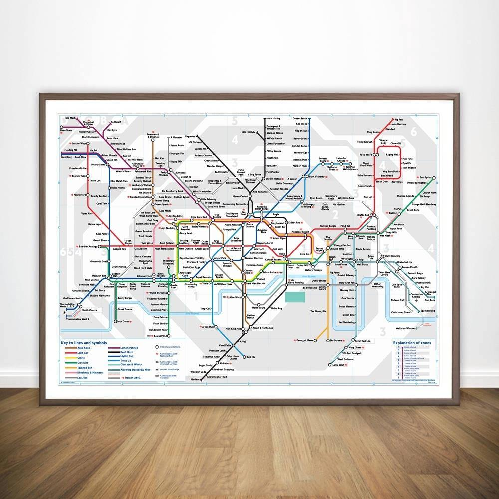 London Tube Map Wall Art Print from Gallery Wallrus | Eclectic Wall Art & Decor with Worldwide Shipping