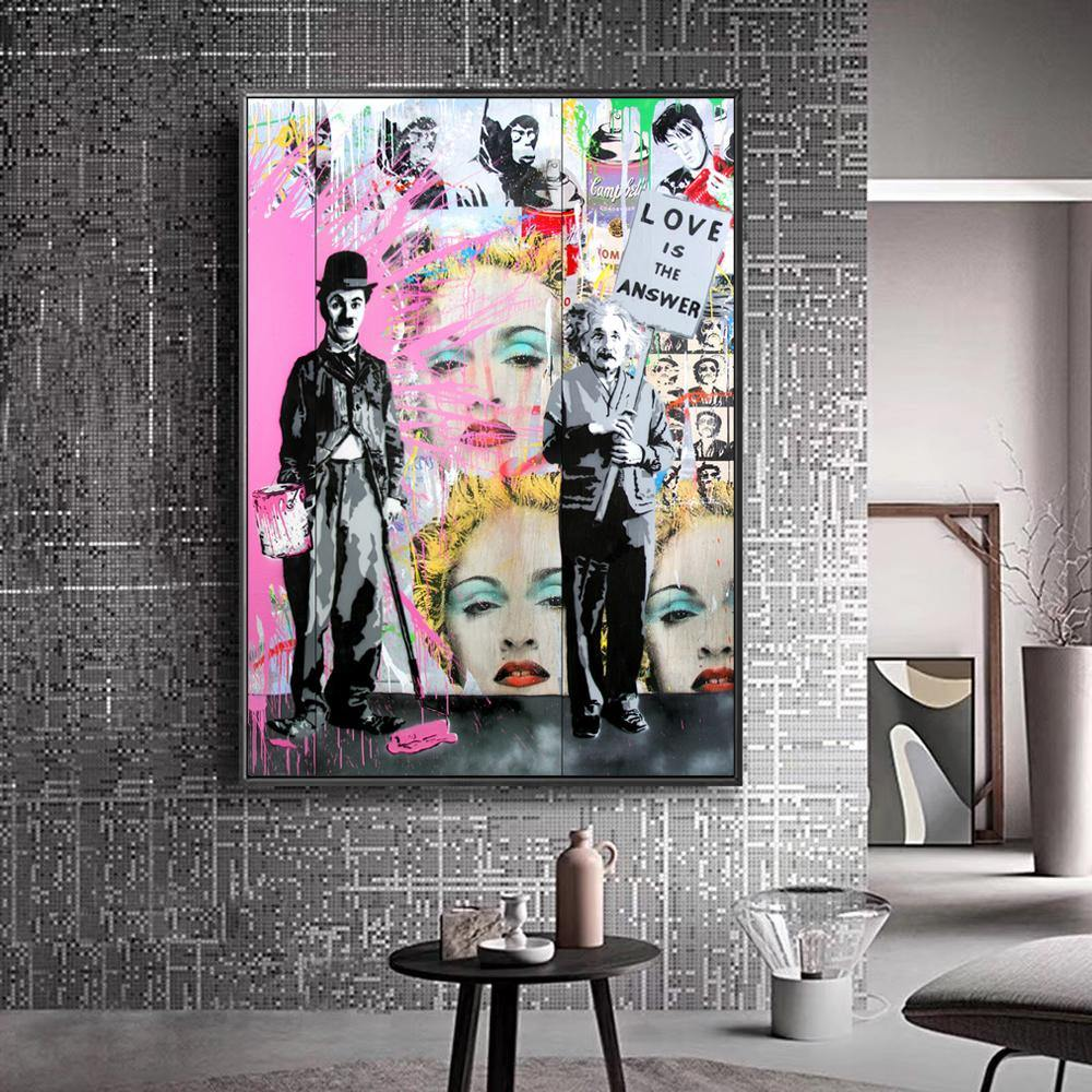 Abstract Street Love Pop Artwork Picture Collection from Gallery Wallrus | Eclectic Wall Art & Decor with Worldwide Shipping