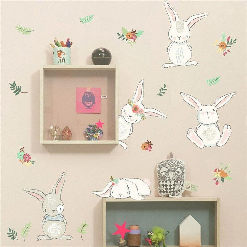 Lovely Bunny Rabbits Kids Wall Sticker from Gallery Wallrus | Eclectic Wall Art & Decor with Worldwide Shipping