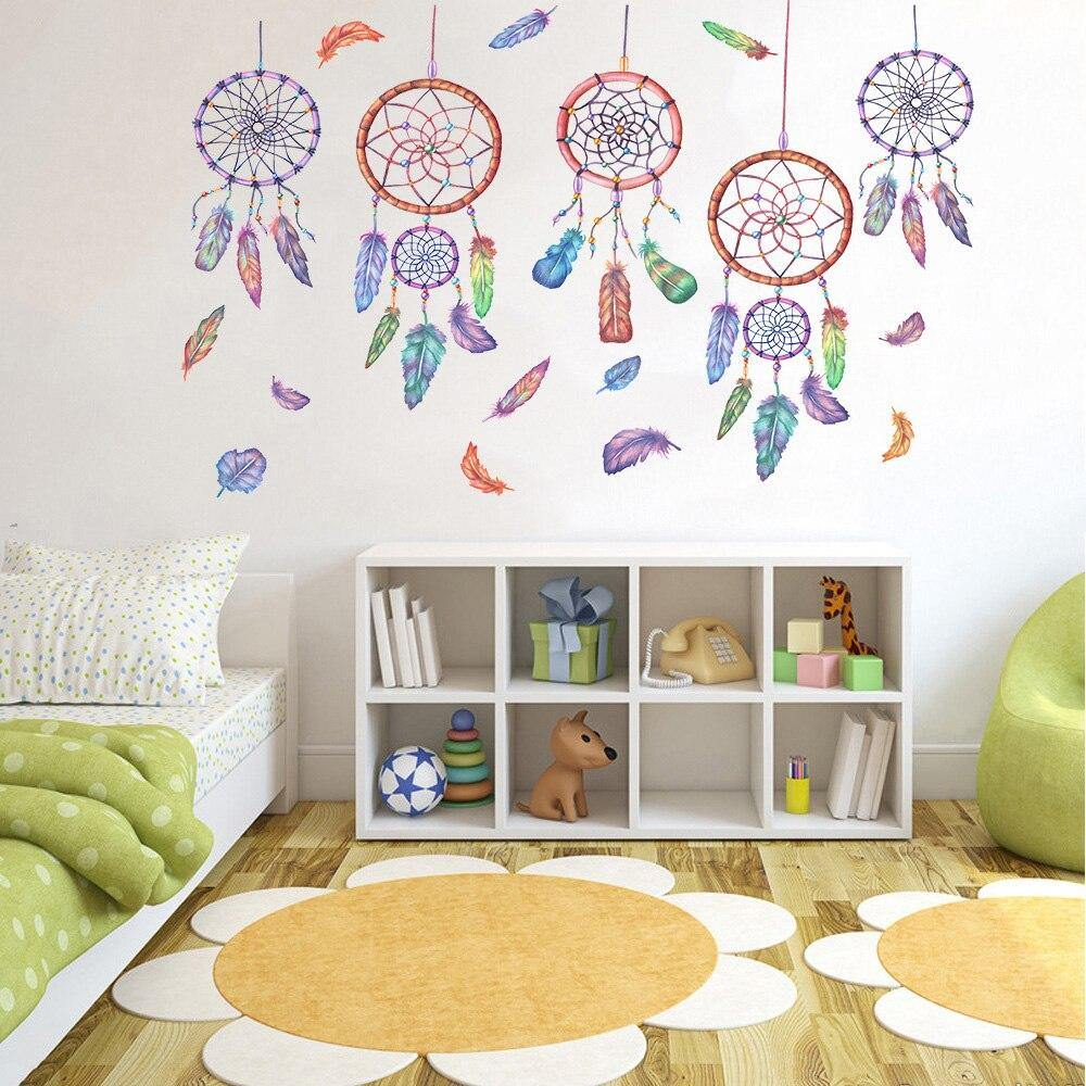 Lucky Colorful Wind Chime Dream Catcher Wall Stickers from Gallery Wallrus | Eclectic Wall Art & Decor with Worldwide Shipping