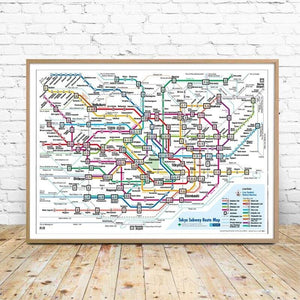 Tokyo, Japan Subway Map Art Print from Gallery Wallrus | Eclectic Wall Art & Decor with Worldwide Shipping