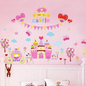 Pink Castle Fairy Pony Princess Wall Stickers from Gallery Wallrus | Eclectic Wall Art & Decor with Worldwide Shipping