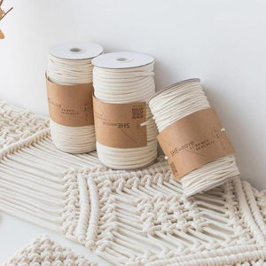 Natural Macrame Cotton Cord Rope from Gallery Wallrus | Eclectic Wall Art & Decor with Worldwide Shipping