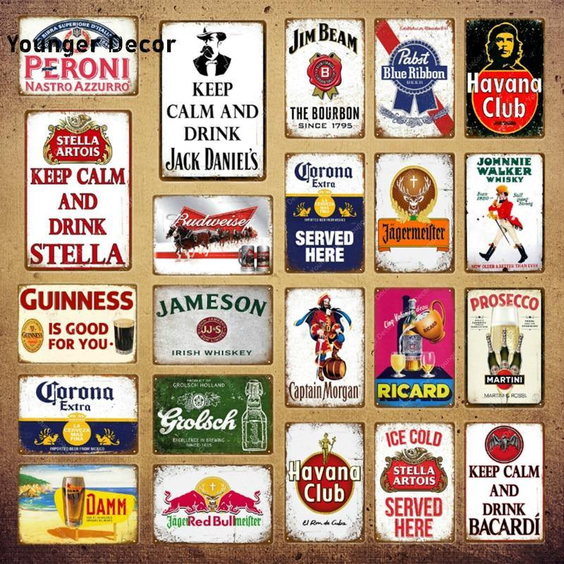 Vintage Alcohol Beer and Spirits Bar Signs from Gallery Wallrus | Eclectic Wall Art & Decor with Worldwide Shipping