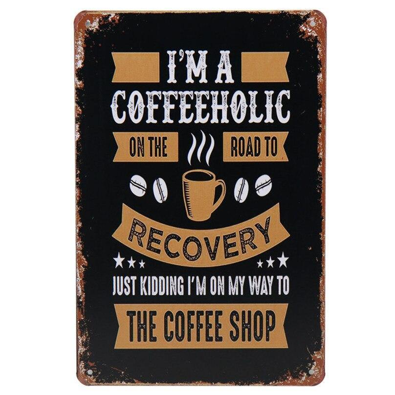 Funny Coffee Blackboard Signs Mix & Match Metal Wall Art from Gallery Wallrus | Eclectic Wall Art & Decor with Worldwide Shipping