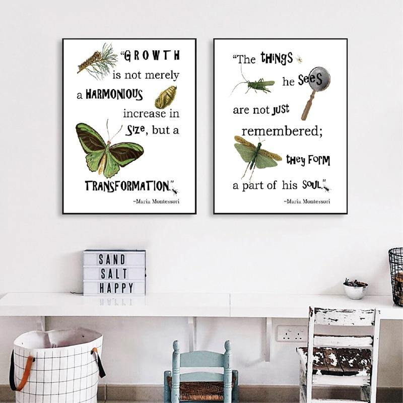 Maria Montessori Quotes and Illustration Art Decor from Gallery Wallrus | Eclectic Wall Art & Decor with Worldwide Shipping