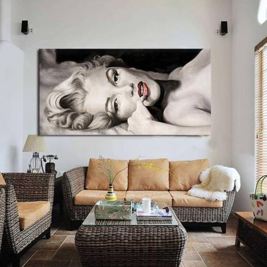 Marilyn Monroe Sexy Pose Wall Art Painting from Gallery Wallrus | Eclectic Wall Art & Decor with Worldwide Shipping
