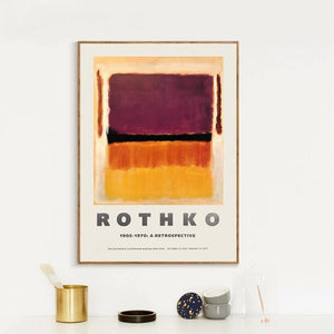 1970 The Guggenheim Museum Exhibition of Mark Rothko Art Prints from Gallery Wallrus | Eclectic Wall Art & Decor with Worldwide Shipping