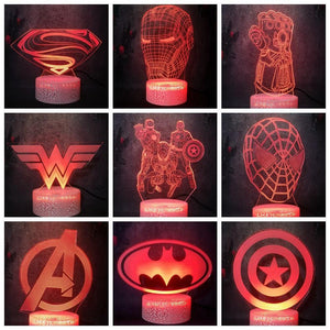 Marvel Avenger Leagues Series Model LED Crack Table Lamp from Gallery Wallrus | Eclectic Wall Art & Decor with Worldwide Shipping