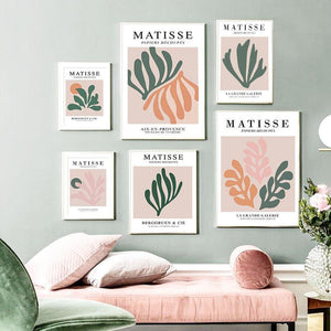 Abstract Pastel Leaves Palette by Matisse Artworks from Gallery Wallrus | Eclectic Wall Art & Decor with Worldwide Shipping