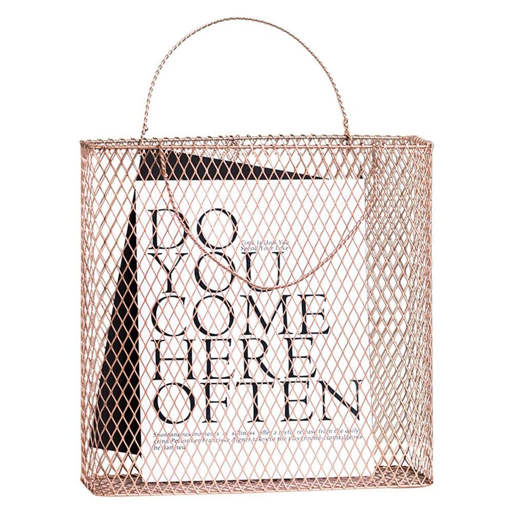 Mesh Metal Storage Basket from Gallery Wallrus | Eclectic Wall Art & Decor with Worldwide Shipping