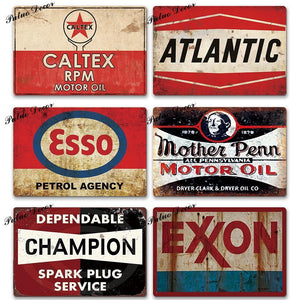 Retro Garage Metal Wall Signs from Gallery Wallrus | Eclectic Wall Art & Decor with Worldwide Shipping