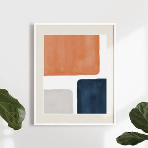 Mid Century Modern Color Block Wall Art Painting from Gallery Wallrus | Eclectic Wall Art & Decor with Worldwide Shipping