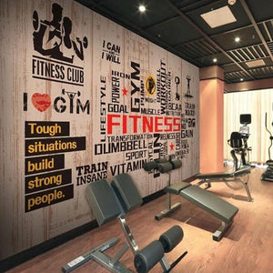 Gym Fitness Motivation Wall Mural from Gallery Wallrus | Eclectic Wall Art & Decor with Worldwide Shipping