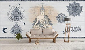 Zen Meditation Yoga Studio Wall Mural from Gallery Wallrus | Eclectic Wall Art & Decor with Worldwide Shipping
