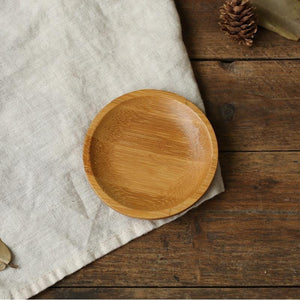 Bamboo Mini Snack Plates from Gallery Wallrus | Eclectic Wall Art & Decor with Worldwide Shipping