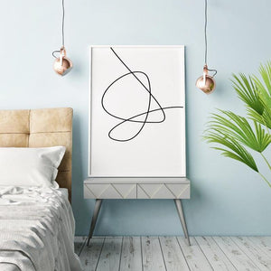 Minimalist Line Swirl Art Picture from Gallery Wallrus | Eclectic Wall Art & Decor with Worldwide Shipping