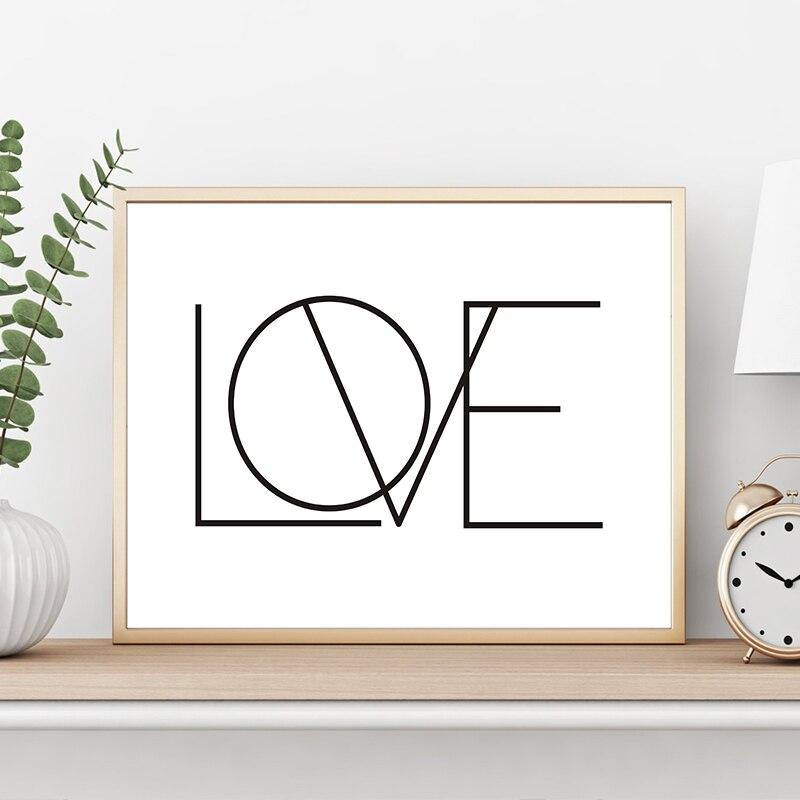 Cool Love Typography Lettering Art Print from Gallery Wallrus | Eclectic Wall Art & Decor with Worldwide Shipping