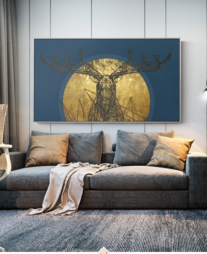 Retro Deer Art Print from Gallery Wallrus | Eclectic Wall Art & Decor with Worldwide Shipping