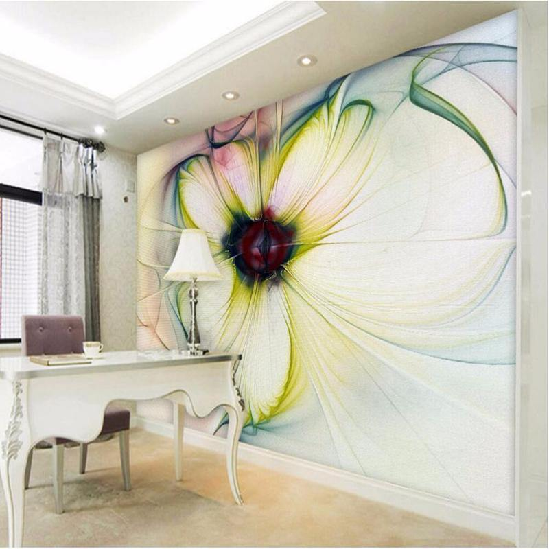 Mystical Large Yellow Flower Wall Mural from Gallery Wallrus | Eclectic Wall Art & Decor with Worldwide Shipping