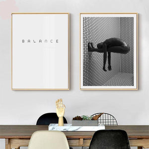 Monochrome Abstract Balance Artworks from Gallery Wallrus | Eclectic Wall Art & Decor with Worldwide Shipping