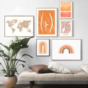 Orange Palette Gallery Wall Mix & Match from Gallery Wallrus | Eclectic Wall Art & Decor with Worldwide Shipping