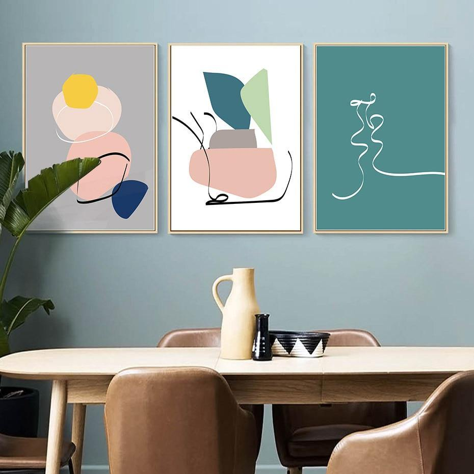 Scandinavian Modern Home Abstract Picture Wall Artwork from Gallery Wallrus | Eclectic Wall Art & Decor with Worldwide Shipping