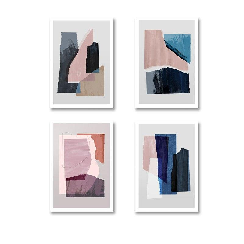 Modern Abstract Marble Blue Pink Paitings from Gallery Wallrus | Eclectic Wall Art & Decor with Worldwide Shipping