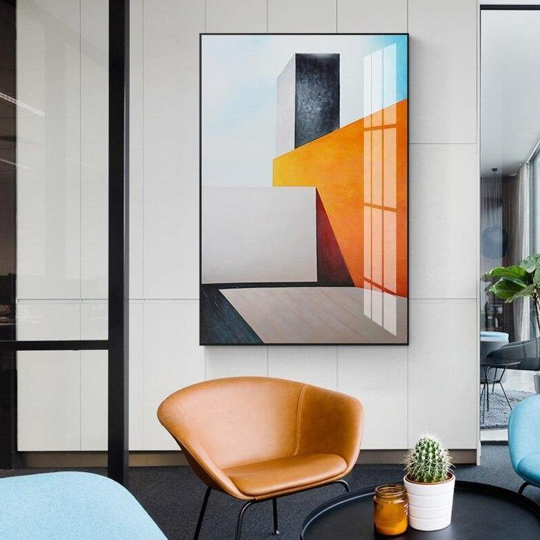 Abstract Geometric Buildings Wall Art Print from Gallery Wallrus | Eclectic Wall Art & Decor with Worldwide Shipping