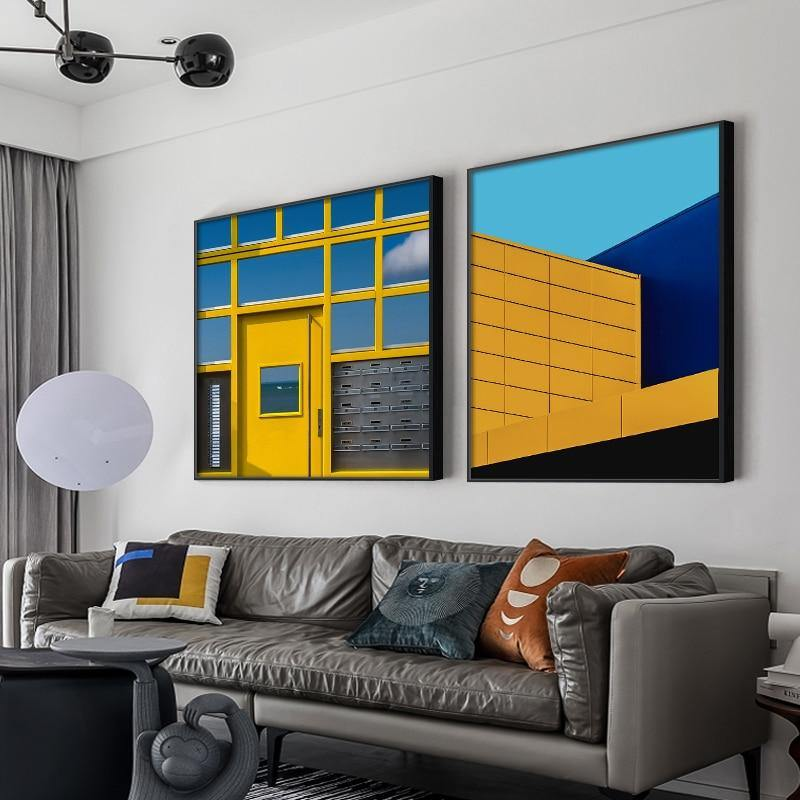 Abstract Building Corners Gallery Wall Paintings from Gallery Wallrus | Eclectic Wall Art & Decor with Worldwide Shipping