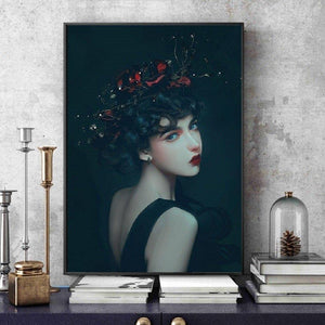 Vintage Girl Wall Art from Gallery Wallrus | Eclectic Wall Art & Decor with Worldwide Shipping