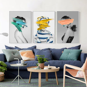 Abstract Girl Mix & Match Art Wall Prints from Gallery Wallrus | Eclectic Wall Art & Decor with Worldwide Shipping