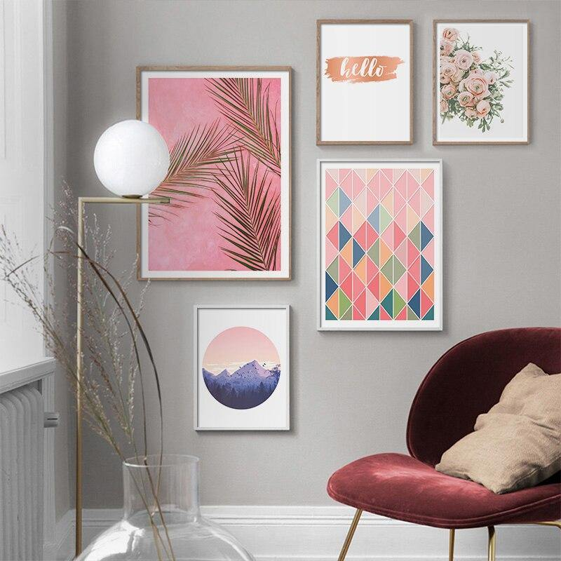 Geometric Scenery Pink Tones Art Gallery Wall from Gallery Wallrus | Eclectic Wall Art & Decor with Worldwide Shipping