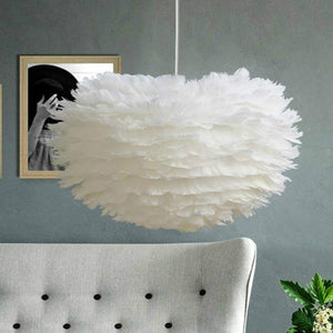 Vintage Feather Hanging Light from Gallery Wallrus | Eclectic Wall Art & Decor with Worldwide Shipping